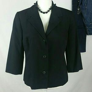 Sag Harbor Women's Petites Blazer Size 8 Navy